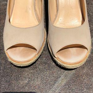 Cole Haan Shoes - COLE HAAN Jocelyn Peep Toe Wedges beige Jute Cork
